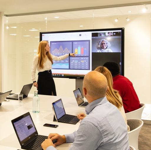 Videoconferencing <br /> op interactieve displays